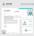 business brochure design with blue theme and vector image