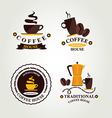 Coffee label icon menu vector image vector image