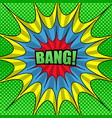 comic bright funny template vector image vector image