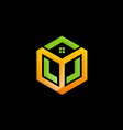 cube house abstract construction logo