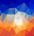 desert blue sky polygon triangular pattern vector image vector image