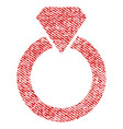 diamond ring fabric textured icon vector image