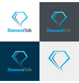 diamond talk logo and icon vector image