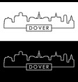 dover skyline linear style editable file vector image vector image