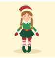 Elf Christmas Braid Girl vector image