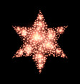 four-pointed star abstract lights christmas vector image vector image