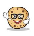 geek sweet cookies character cartoon vector image vector image