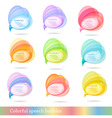 group of colorful speech bubbles vector image vector image