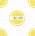 Hand drawn lemons Seamless pattern vector image vector image