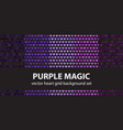 heart pattern set purple magic seamless vector image