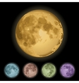 Isolated full moon vector image