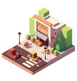 isometric fruits and vegetables store vector image vector image