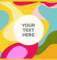 liquid abstract banner design for social media vector image vector image