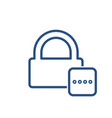 Lock office password protected safe icon vector image