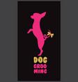 logo for dog hair salon vector image vector image