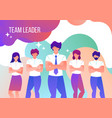 men and women work in a team leader vector image vector image