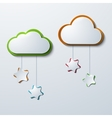 modern clouds with stars vector image