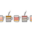 mups seamless border repeating cup pattern vector image