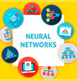 neural network template vector image