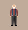 Old man standing full length vector image vector image