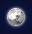 planet moon background night sky cartoon style vector image