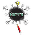 red pencil idea concept green growth education vector image vector image