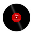 retro vinyl record with red label vector image