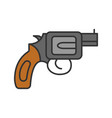 revolver color icon vector image vector image