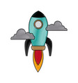 rocket launching as a metaphor for start up vector image