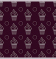 seamless pattern with cupcakes lines vector image