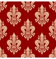seamless red and pink fleur-de-lis pattern vector image vector image