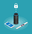 security internet things isometric composition vector image vector image