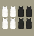 set isolated men sport shirts or top apparel vector image vector image