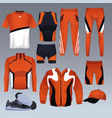 set of sport wear collection vector image