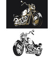 silhouette retro motorcycle chopper vector image