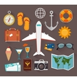 Summer travel and vacations vector image vector image