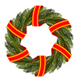 Traditional green wreath for Christmas Christmas vector image