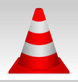 traffic cone vector image vector image