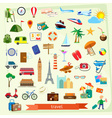 Travel icon set flat design vector image