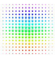 weight icon halftone spectral pattern vector image vector image