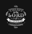 christian proverb lettering composition vector image