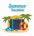 Summer travel and vacations vector image
