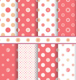 Cute baby patterns set - seamless girl pink vector image