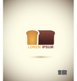 bread logo Slice of bread Concept for bakery and vector image