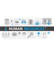 human resources web banner concept outline line vector image