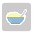 bowl of porridge isolated on background vector image