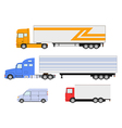 truck set vector image