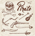 weapons of pirates vector image