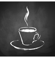 A cup of coffee with steam vector image vector image