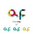 Alphabet letter font logo business icon vector image vector image